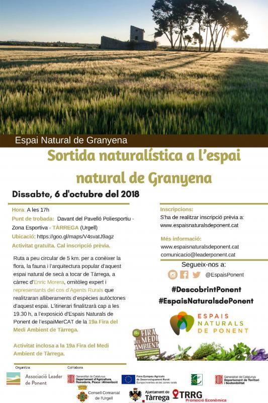 Sortida naturalística per l'espai natural de Granyena