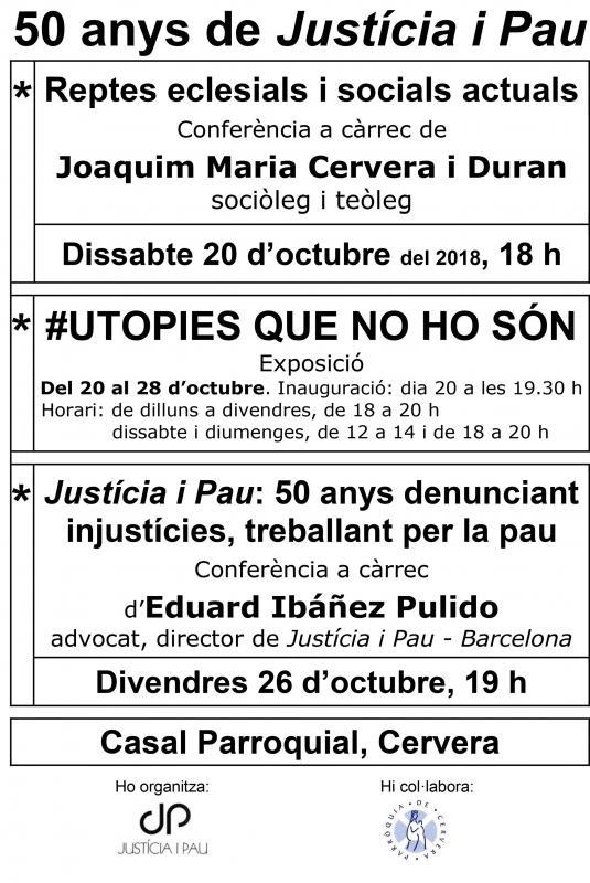 Justícia i Pau: 50 anys denunciant injustícies, treballant per la pau