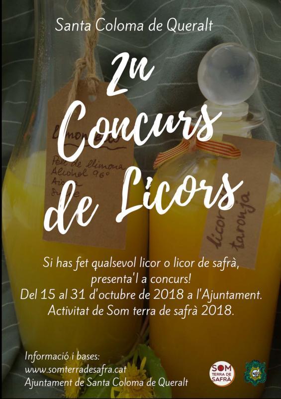 Concurs de licors Som Terra de Safrà 2018 - Santa Coloma de Queralt