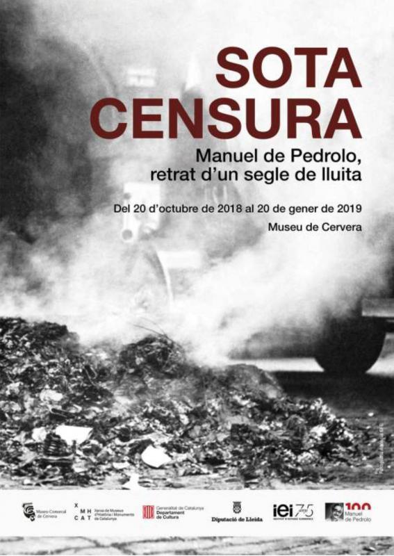 Exposició 'Sota censura.  Manuel de Pedrolo, retrat d'un segle de lluita' a Museu de Cervera