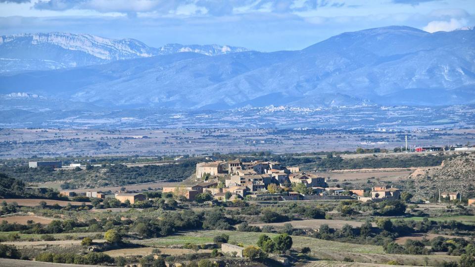 19.11.2018 vista del poble  Granyanella -  Ramon Sunyer