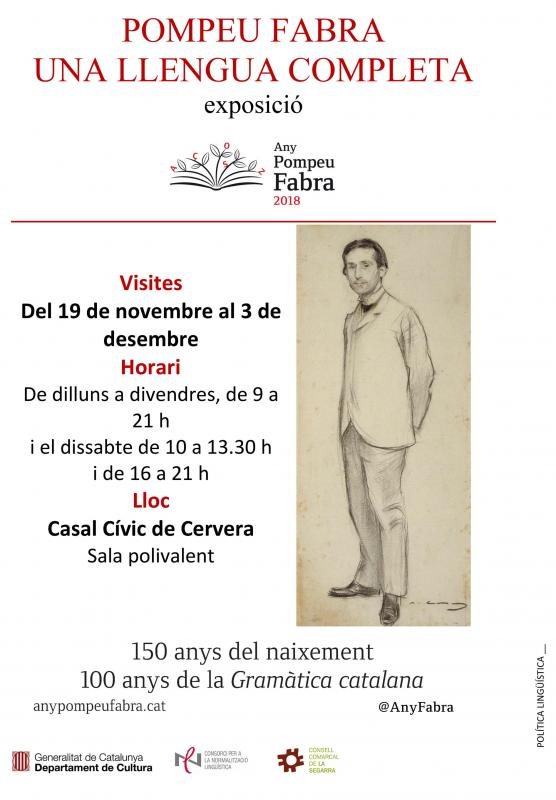 Exposició 'Pompeu Fabra: Una llengua completa