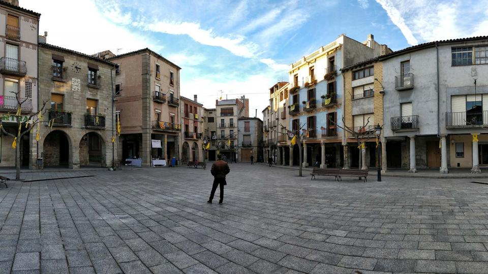 03.11.2018 Plaça major  Santa Coloma de Queralt -  Ramon Sunyer
