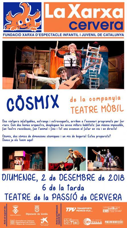 cartell La Xarxa: COSMIX - TEATRE MÒBIL