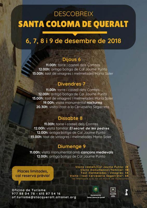 Visites guiades del 6 al 9 de desembre a Santa Coloma de Queralt - Santa Coloma de Queralt