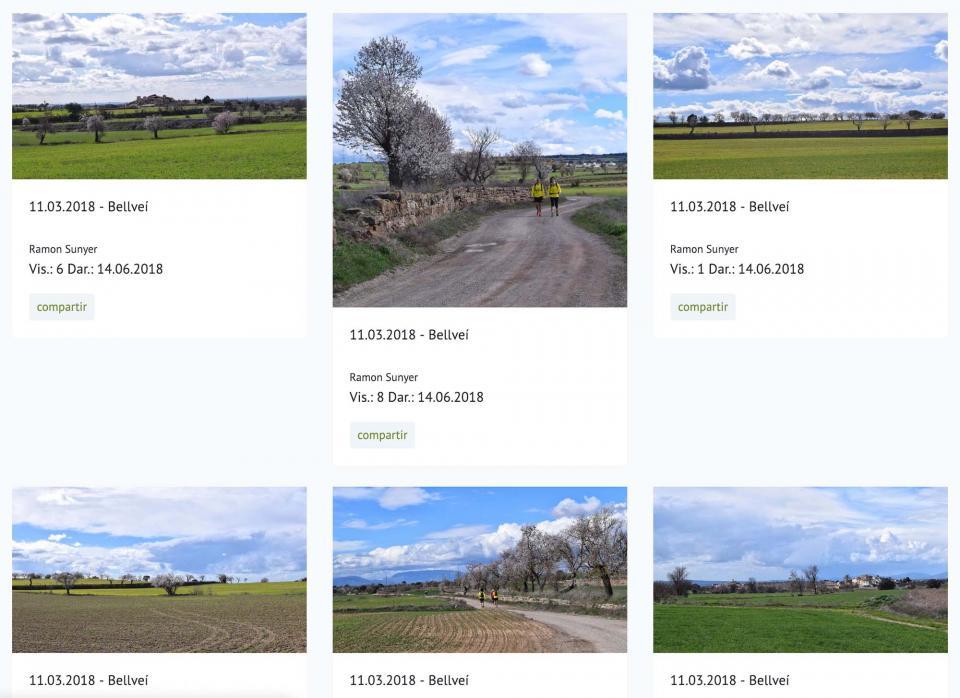 Visualització de fotos en la nova versió de la web Som Segarra -
