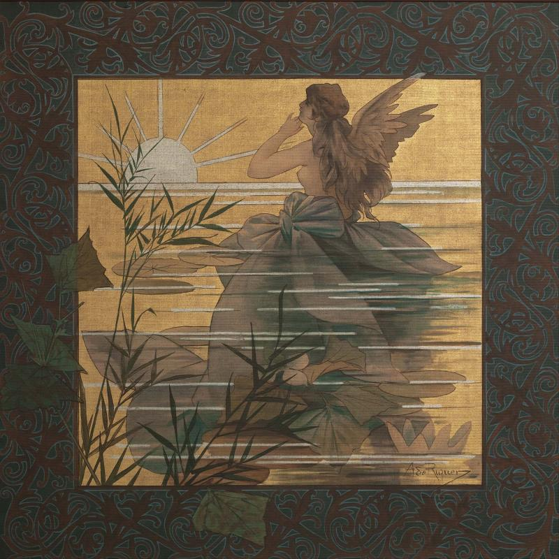 Composition with winged nymph at sunrise (1897) - Calaf