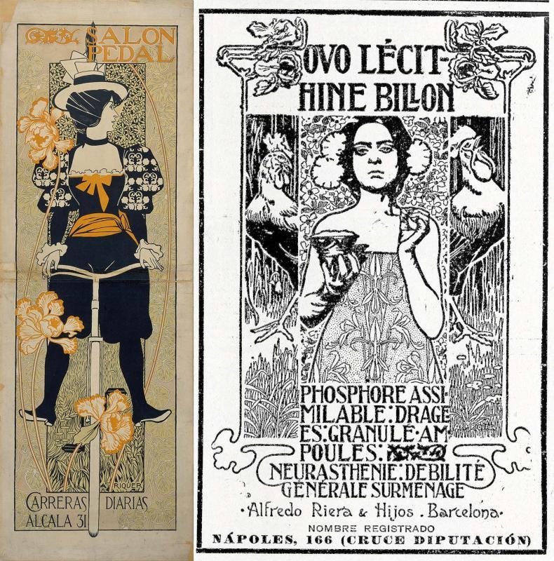 Pòster Salon Pedal (1897) i Publicitat, Ovo lécithine billon (1906) - Calaf
