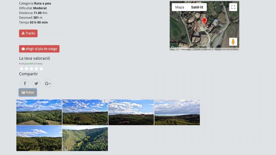 Les rutes permeten descarregar els tracks a Som Segarra Turisme -