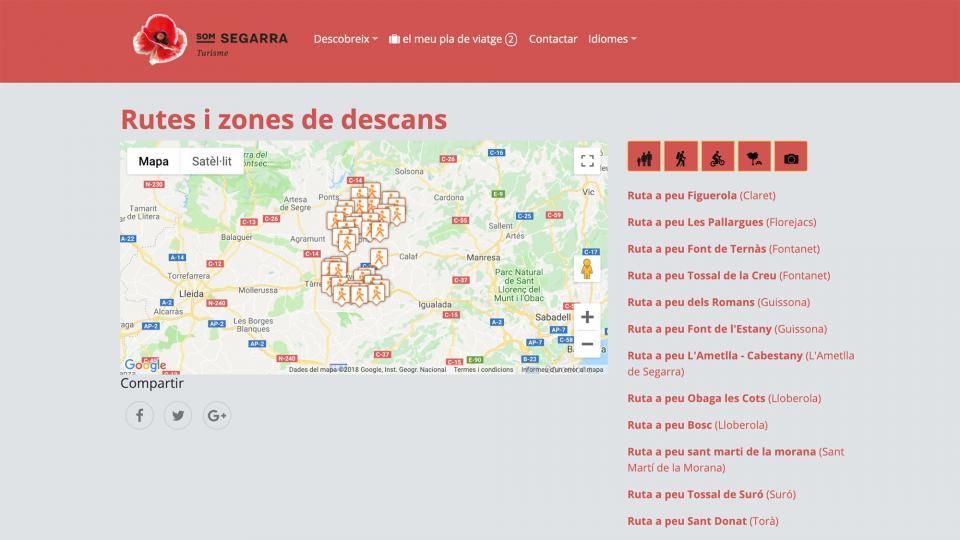 Nou portal Som Segarra Turisme també ofereix diferents tipus de rutes -