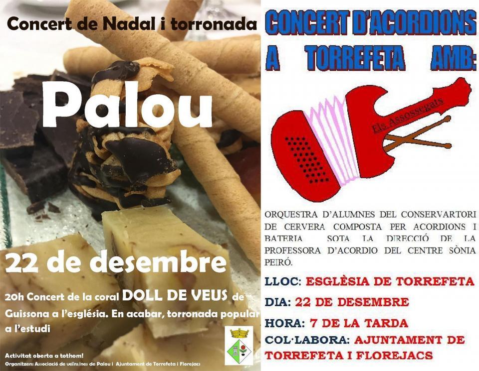 Concerts de Nadal a Torrefeta i Palou