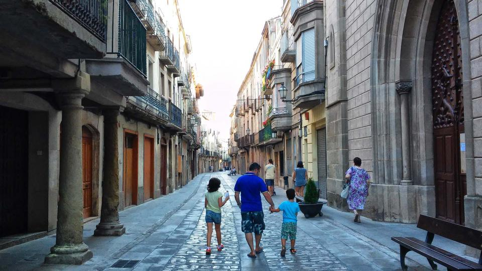 19.08.2014 carrer Major  Cervera -  Ramon Sunyer