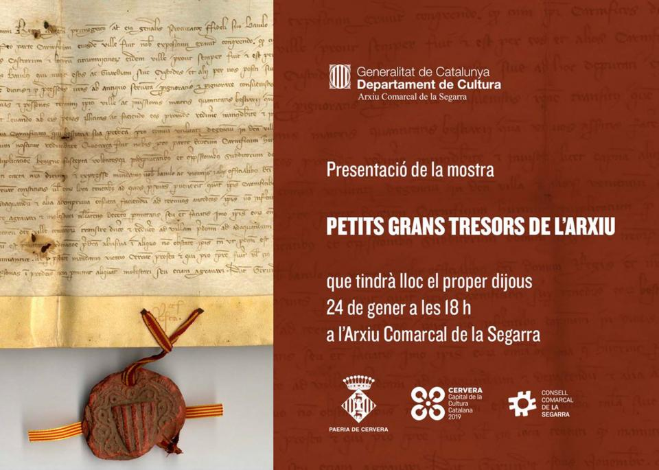 Exposició 'Petits grans tresors de l'arxiu'