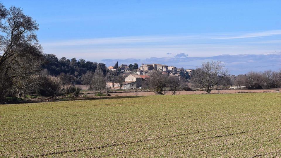 10.02.2019 vista del poble  La Prenyanosa -  Ramon Sunyer