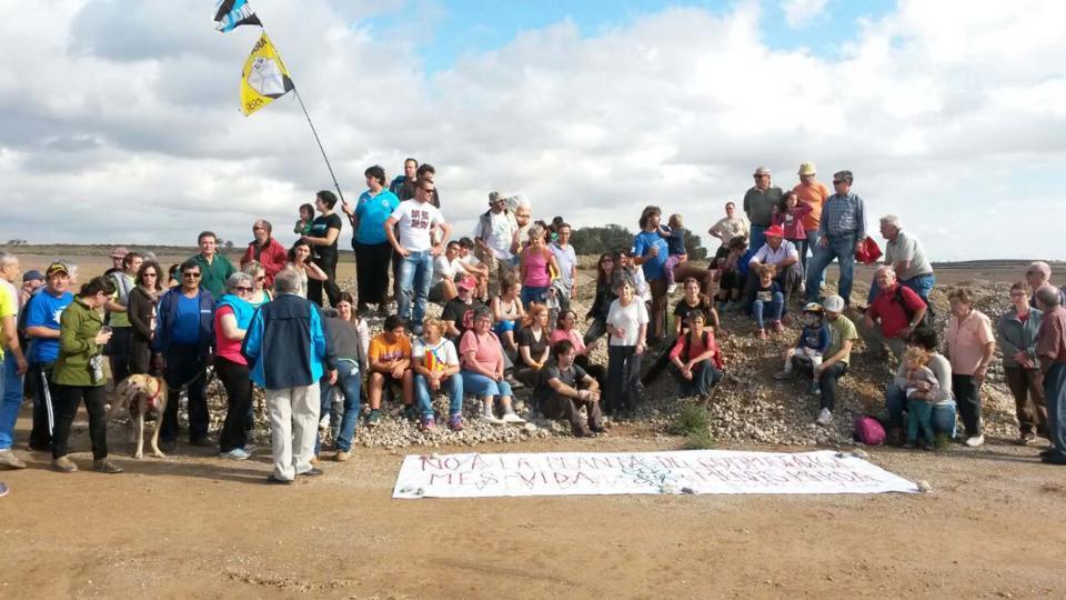 Acte de rebuig a la planta de compostatge dels Plans de Conill realitzat l'octubre del 2014 -