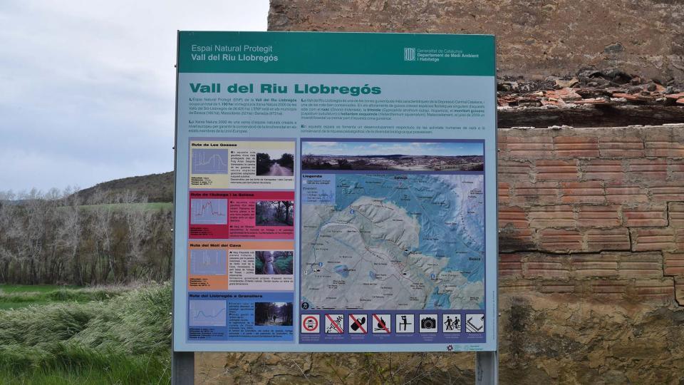 Millora de la senyalètica de les rutes de l'EIN de la Vall del Llobregós -