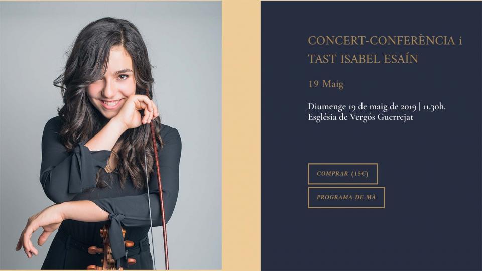 Concert-Conferència i Tast Isabel Esaín