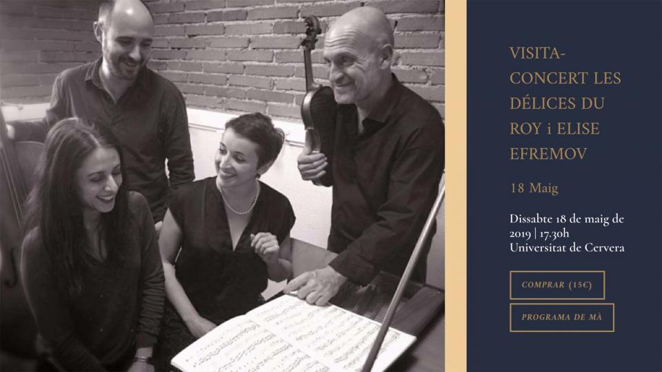 Visita-Concert Les Délices du Roy i Elise Efremov