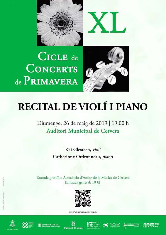 Recital de violí i piano