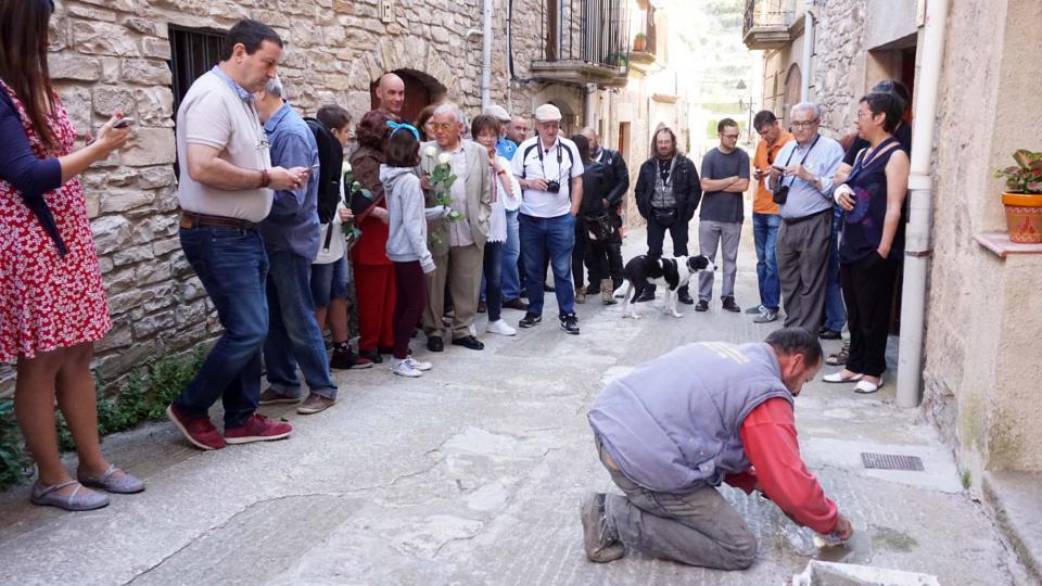 01.06.2019 llamborda dedicada a Josep Bonell Berenguer   Vallfogona de Riucorb -  Jesús i Isabel @IStolpersteine