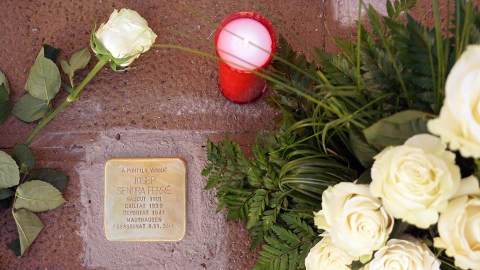 01.06.2019 llamborda dedicada a Josep Sendra Ferré  Pontils -  Jesús i Isabel @IStolpersteine