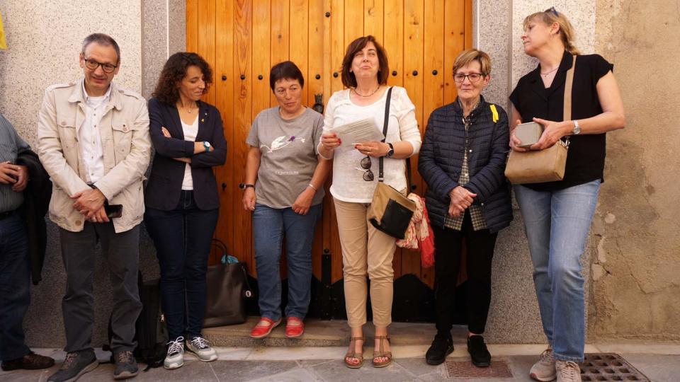 Els familiars emocionats amb l'acte - Santa Coloma de Queralt