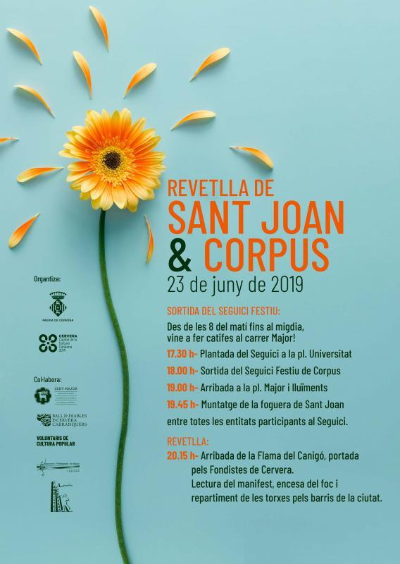 Festa de Corpus i revetlla de Sant Joan a Cervera