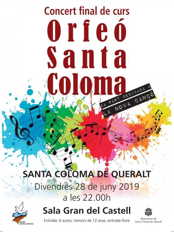 cartell Concert Orfeó de Santa Coloma