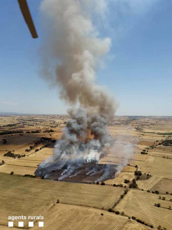 Incendi agrícola a Torrefeta i Florejacs -