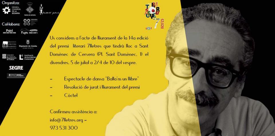 Lliurament de la 14a edició del premi literari 7lletres