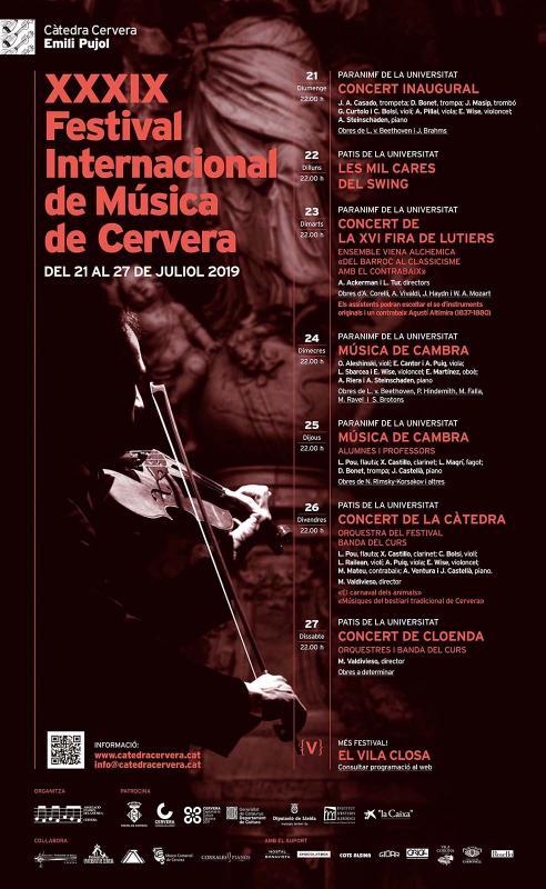 XXXIX Festival Internacional de Música de Cervera