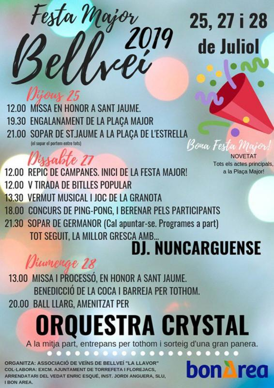 Festa major de Bellveí 2019