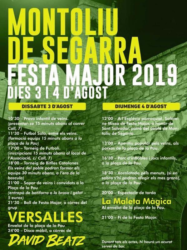 Festa Major de Montoliu de Segarra 2019