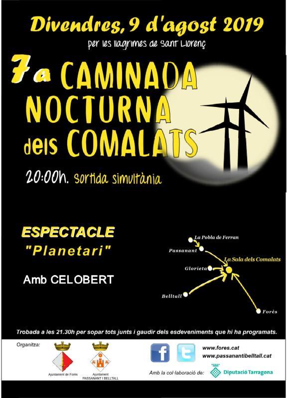 cartell 7a Caminada Nocturna dels Comalats