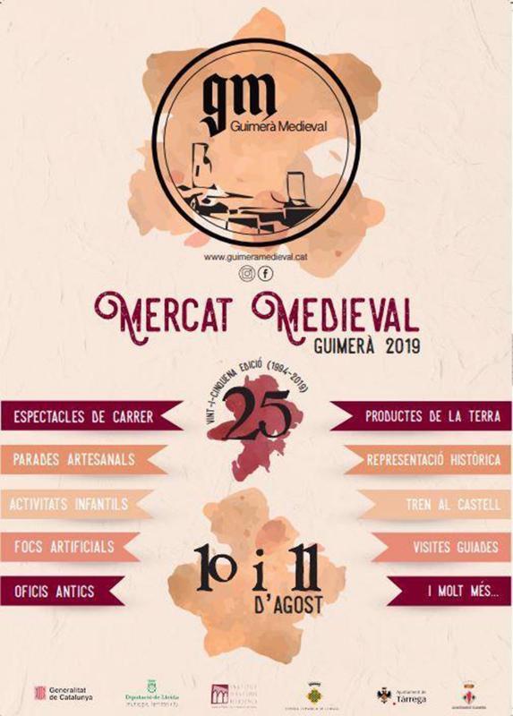 cartell XXV Mercat Medieval de Guimerà