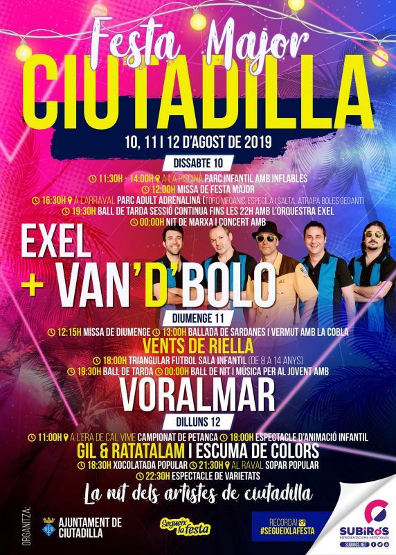 cartell Festa Major de Ciutadilla 2019