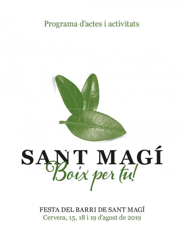 cartell Festa de Sant Magí Cervera 2019