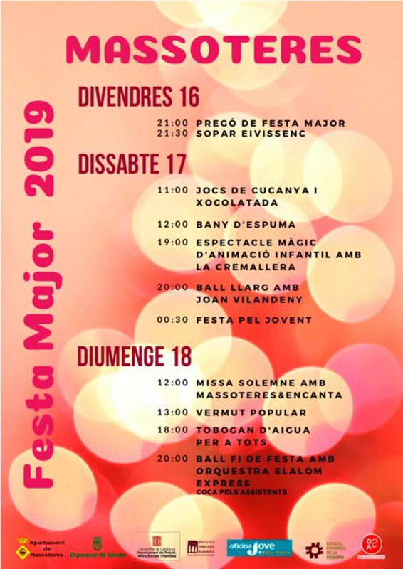 cartell Festa Major de Massoteres 2019