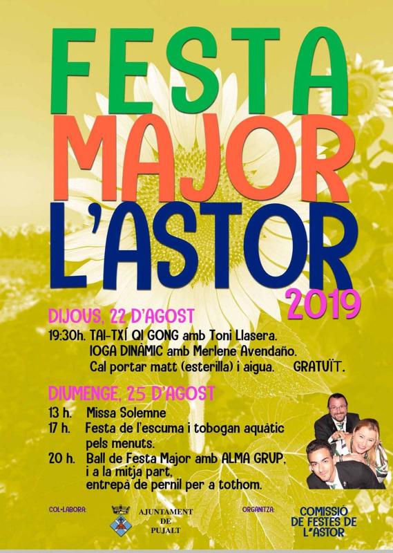 cartell Festa Major de l'Astor 2019