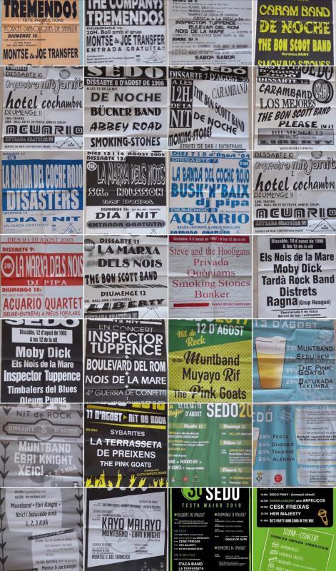 Cartells Nits de rock de Sedó - Sedó