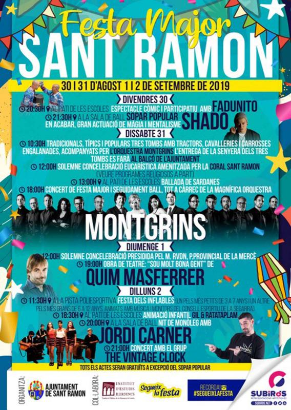 cartell Festa Major de Sant Ramon 2019