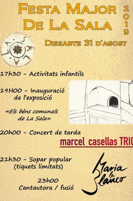 cartell Festa Major de La Sala de Comalats 2019
