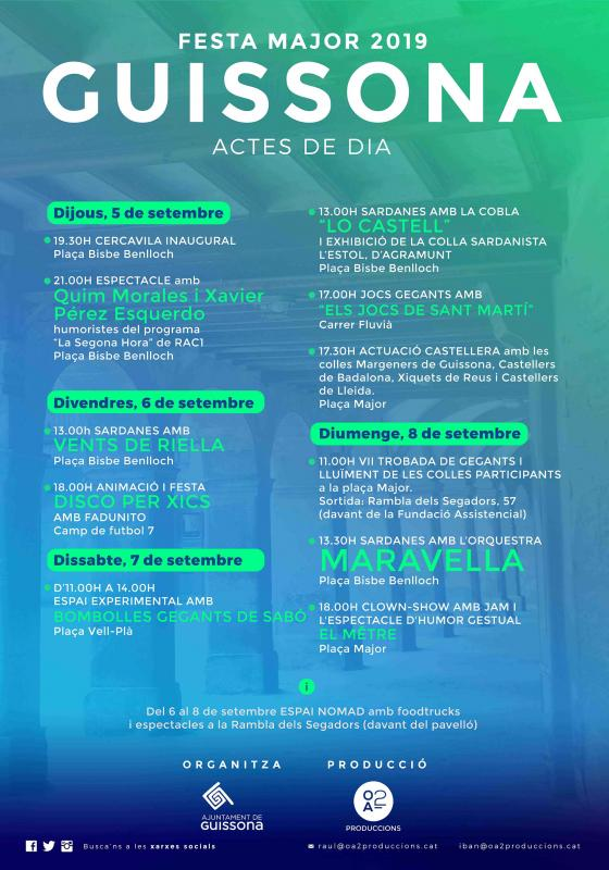 cartell Festa Major de Guissona 2019