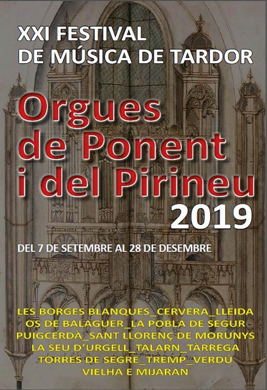cartell Concert Orgues de Ponent i del Pirineu 2019