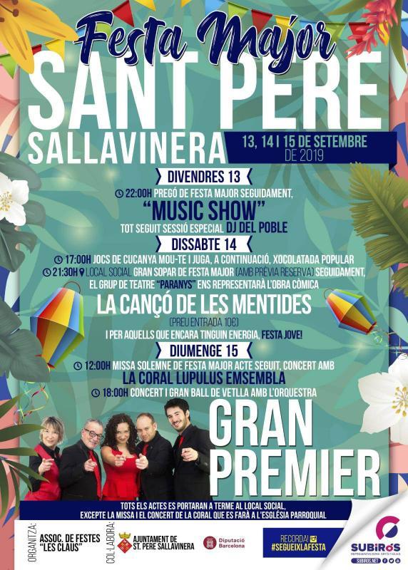 cartell Festa Major de Sant Pere Sallavinera 2019