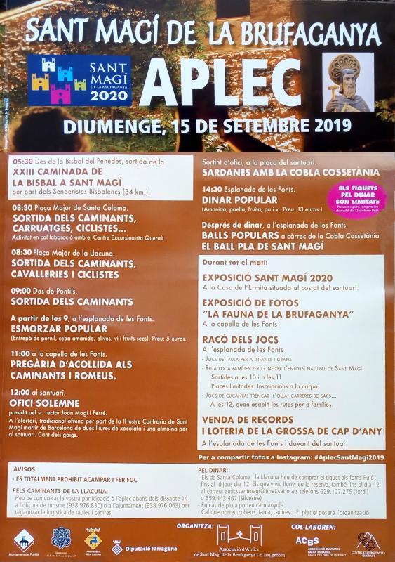 cartell Aplec de Sant Magí de la Brufaganya 2019