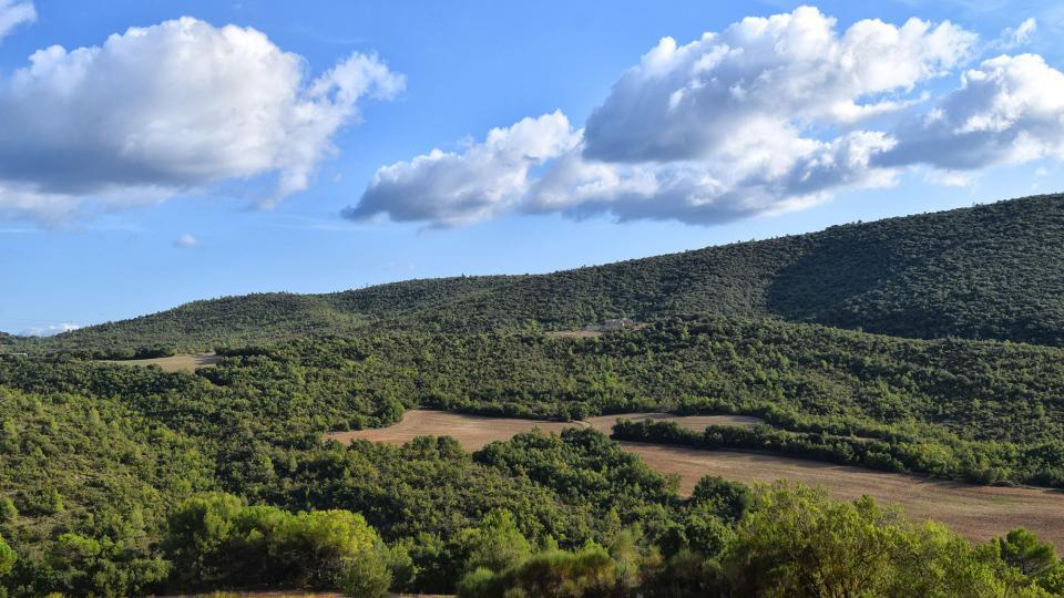 11.09.2019 Vista des de sant Magí  Rocamora i Sant Magí de la Brufaganya -  Ramon Sunyer