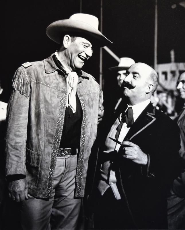 22.09.2019 Claudi Gómez amb John Wayne a la pel·lícula 'El fabuloso mundo del circo'   Cervera -  Ramon Sunyer