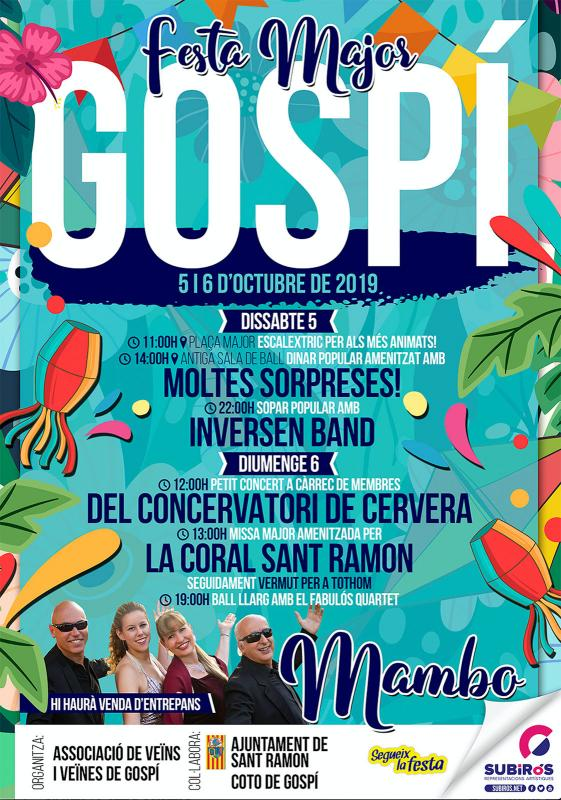 cartell Festa Major de Gospí 2019