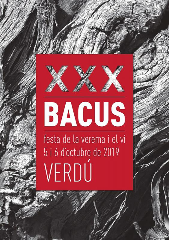 cartell 30a Festa de la Verema i el Vi Bacus Verdú